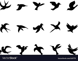 bird in flight silhouette vector. Delighful Bird Simple Birds Flying Silhouettes Vector Image Intended Bird In Flight Silhouette Vector S