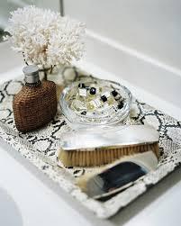 Decorative Bathroom Tray Lonny Magazine AprMay 60 Photography by Patrick Cline 58