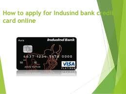 indusind bank credit card status how