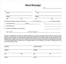 Rent Receipt Form Rent Receipt Template