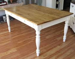 Modest Farm Kitchen Table Wood Made Furnished With Applying White