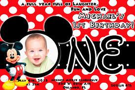 mickey mouse birthday invitation com mickey mouse st birthday invitations iidaemilia
