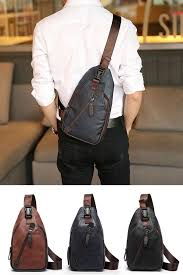 $14.94 <b>Men</b> Retro PU Leather Crossbody <b>Bag</b> Capacity Leisure ...