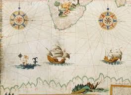sea monster world map. Wonderful Monster A Siren Admires Herself In A Mirror Symbol Of Vanity Near Ship On  Pierre Desceliersu0027s World Map 1550 The Styles And Colors Which The Water Is  Inside Sea Monster World Map U