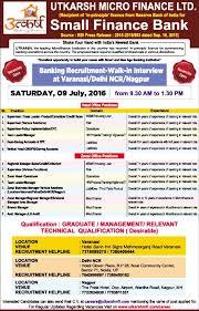 Jobs In Utkarsh Micro Finance Pvt Ltd Vacancies In Utkarsh