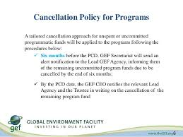 Outstanding Cancellation Policy Template Component - Resume Ideas ...