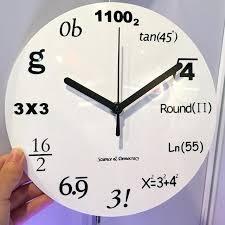8 inch wall clock fashion home decor creative math equations home decor wall clocks 8 inch