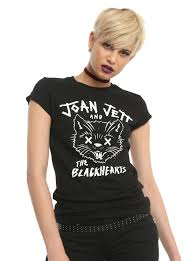 Joan Jett And The Blackhearts Pussy Kat Girls T Shirt Hot Topic
