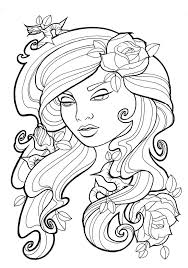 Small Picture Tattoo coloring pages women face ColoringStar