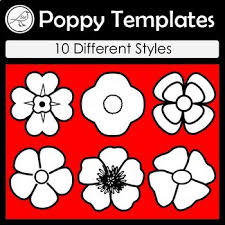 poppy template anzac day poppy templates by suzanne welch teaching resources tpt