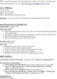 Salon Manager Resume Examples Owner Templates Free Hair Stylist ...