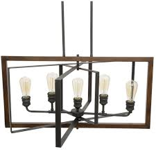 lovely unique lighting fixtures 5. Home Decorators Collection Palermo Grove 5 Light Black Gilded Iron Linear Chandelier 7922HDC The Lovely Unique Lighting Fixtures