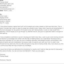 Sample Cover Letter For New Grad Nurse Nursing Cover Letters For Resumes Pohlazeniduse