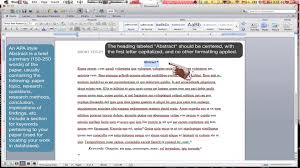 how to format an apa style abstract page ms word for mac  how to format an apa style abstract page ms word for mac 2011