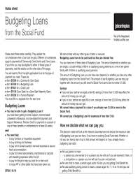 Form For Budgeting Apply For Budgeting Loan Online Fill Online Printable