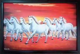 white horses running. Perfect White Image Is Loading 7WhiteHorsesRunningBeautifulFramedPictureNEW Intended White Horses Running M