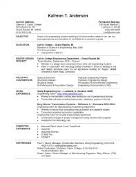 Sle Cv For Internship Sle Resume For Internship In Engineering
