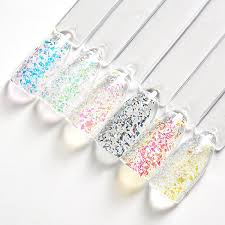 Mtssii 1Box <b>Laser Glitter Galaxy Holo</b> Flake Rainbow Nail Art ...