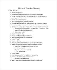 wedding checklist templates sample wedding checklist 24 documents in pdf word