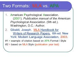 American Psychology Association Format Documentation Documentation Modern Language Association Format Ppt