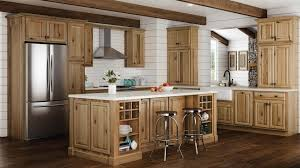 hampton wall kitchen cabinets in natural hickory kitchen the home depot