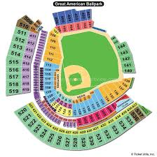Whitaker Bank Ballpark Seating Chart Concert Great American Ball Park Cincinnati Oh Seating Chart View