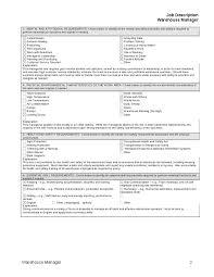 job description for warehouse manager   hashdocjob description for warehouse manager