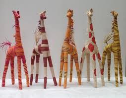 giraffe furniture. Raffia Giraffe (50cm). Bohemio Furniture
