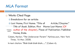 Mla Format Get Out A Piece Of Paper For Notes Ppt Download