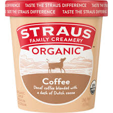 Always make iced coffee fresh — and use a cocktail shaker: Organic Coffee Ice Cream Straus Family Creamery