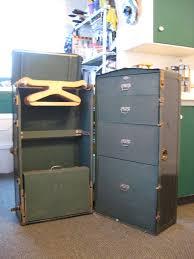 wardrobe steamer trunk