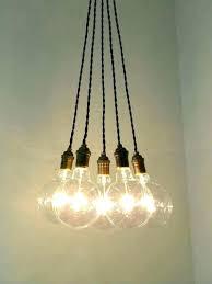 edison bulb hanging light lights crystal pendant fixture clear lee broom outdoor strings