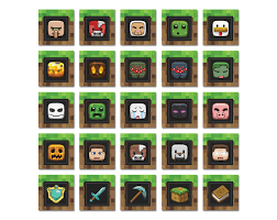 Minecraft Pictures To Print Phorest Studio Minecraft Birthday Party Cupcake Toppers And