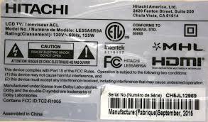 hitachi le55a6r9a. pre-owned: lowest price hitachi le55a6r9a