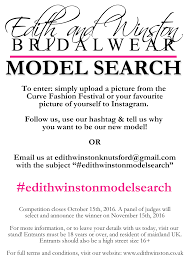 an edith winston model search the curve fashion festival  model search leaflet