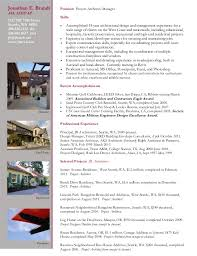 jonathan e brandt position project architectmanageraia - Project Architect  Resume