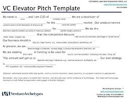pitch document template elevator pitch template wsopfreechips co