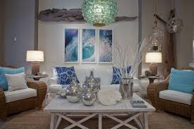 beach inspired lighting. Coastal Living Room With Sea Glass Orb Chandelier Beach Inspired Lighting E