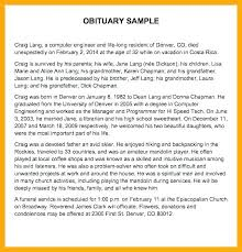 Newspaper Obituary Template Obituary Format For Newspaper Samples Word Standard Template An In