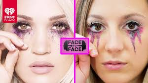 carrie underwood cry pretty makeup tutorial face to face