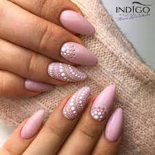 Dusty rose nails with intricate dot design | Hair & Beauty ...