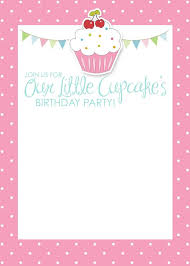 Free Blank Greeting Card Templates Adorable Birthday Cup Cake Party Invitations Free Printable Cupcake Themed