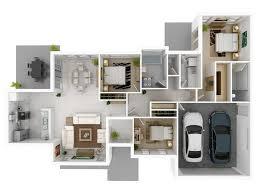 3 Bedroom Open Floor House Plans Creative Design New Inspiration