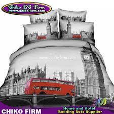 london city design cotton duvet cover flat sheet pillow shams 3d bedding sets