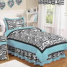 interior bedroom black and white zebra patterned comforter sets