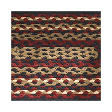 folk art rectangle cotton braided rug 27 x 45 primitive home
