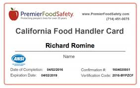 how to put food handlers card on resume