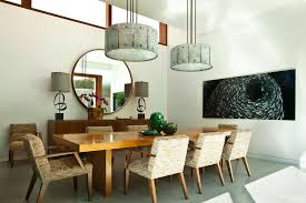 Exceptional Gorgeous Drum Lamp Shades In Dining Room Contemporary With Mid  Simpleminimalist Mirrors For Majestic 10