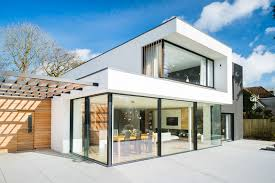 modern house. Interesting House This Modern House Has Large Glass Windows  Doors That Open Up To The  Backyard And Modern House A