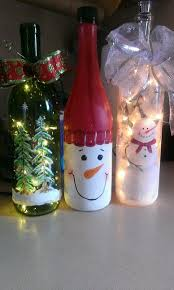 How To Decorate A Wine Bottle For Christmas My wine bottle lights Christmas Pinterest Bottle lights 82